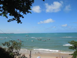 Pipa's beach and the local fishing boats, Lucia - February 2013