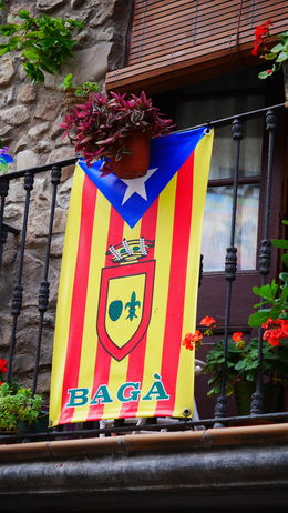 The star on the flag means this home is in favor of Catalan independence. We saw it all over Barcelona and in Baga too! , Roslyn C - July 2015