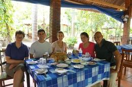 Photo of   lunch by the Mekong River