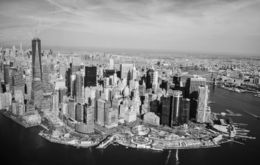 Manhatan from helicopter in Black and White , Artur D - April 2016