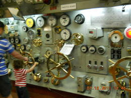 Somewhere far below deck. I think this was in the engine room. , Glenn W - July 2011