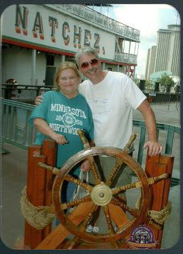 Gary and Lana in NOLA. We really enjoyed our Viator City Tour and trip down the Mississippi on the Natchez Steamboat great food, too! , NOLA - September 2015