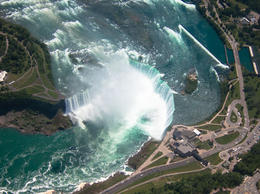 View of Horseshoe Falls from the Helicopter - July 2013