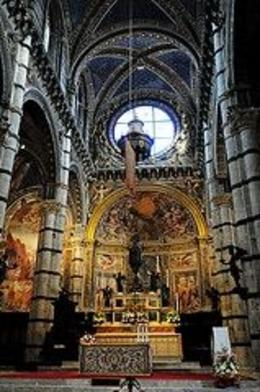 Photo of Florence Siena and San Gimignano Day Trip from Florence Altar of cathedral in Sienna