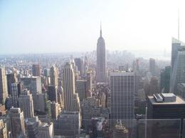 Photo of New York City Top of the Rock Observation Deck, New York Empire State Building view from Top of the Rock