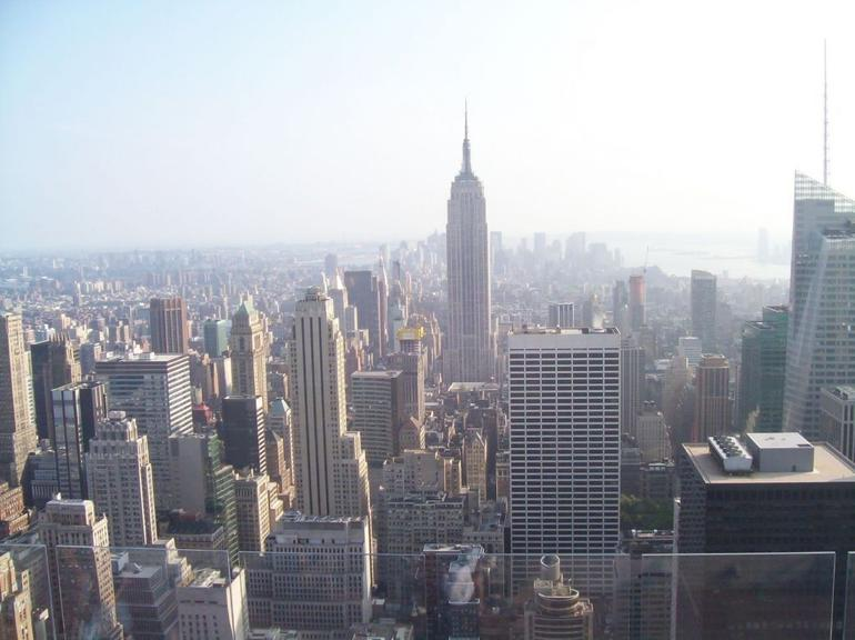 Empire State Building view from Top of the Rock - New York City