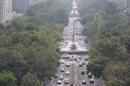 Reforma Avenue seen from the top of the Angel of Independence, aletrece - October 2015