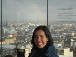 Ultimate reward - a pint and amazing views of Dublin (rainbow included!) , SaraG - December 2010