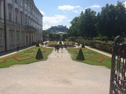A view from the Mirabell Garden looking towards the fort. The location of filming for parts of The Sound of Music. , Brad - June 2016
