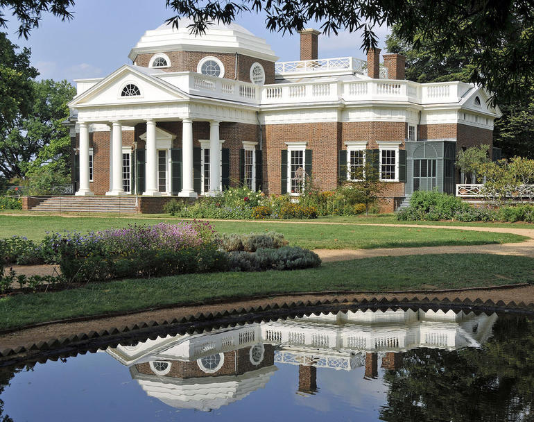 Monticello - Pond Reflection - Washington DC