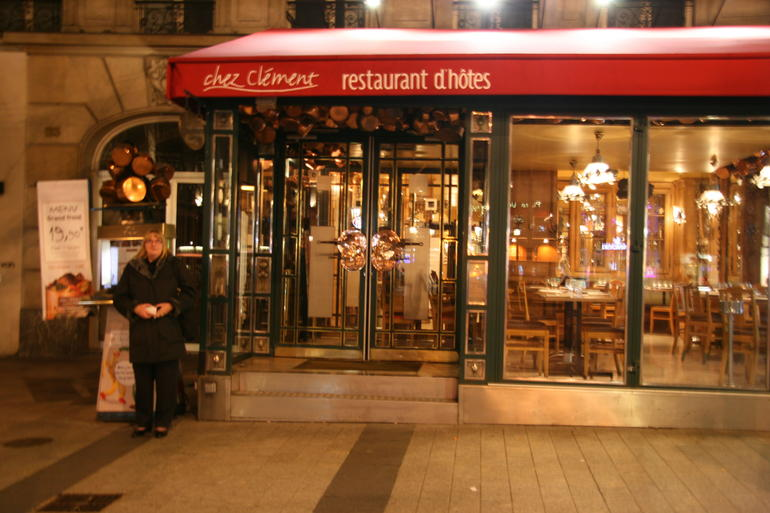 Outside Chez Clement - Paris