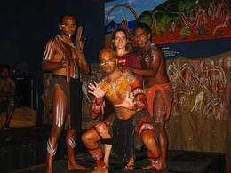 After some introduction to the Dreamtime, guests are given the opportunity for a photo with the dancers, Patricia P - January 2011