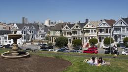 Alamo Park, and quot;painted ladies and quot; San Francisco April 2011 , kendarblue - May 2011