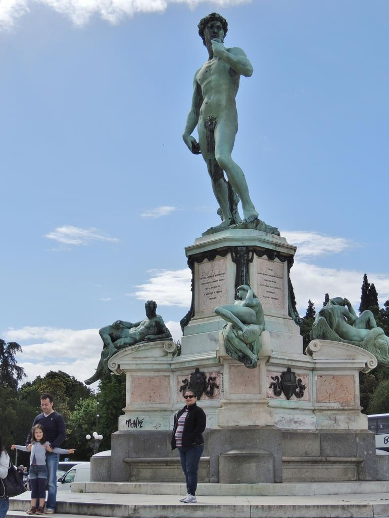 The bronze replica of David on the hill overlooking Florence - Florence