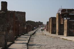 We never realized Pompeii was as big as it was. This is just one of many of the streets one would have walked., Michael L - October 2009