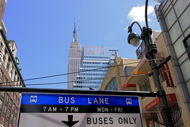 View from the bus - New York City