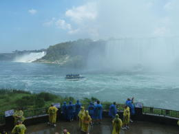 Photo of   Admiring the power of the falls!