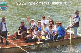 Start of the Dunajec River Gorge with our two local captains , FREDA E - August 2013