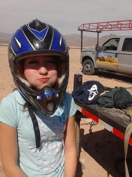 Photo of Las Vegas Mini Baja Buggy Half-Day Tour from Las Vegas Lauren in her helmet