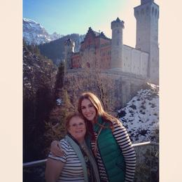 Mom and I after touring Neushcwanstein Castle , amylouisey - April 2014