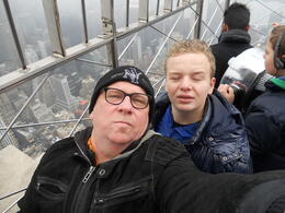 Photo of New York City NY SKYRIDE and Empire State Building Observatory Paul  and  Boy on ESB