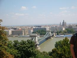 It was a long walk up a steep hill, but the view made the pain worthwhile. Taken from the Castle Precinct overlooking the Chain Bridge and Pest on the other side of the Danube., Michael S - August 2009