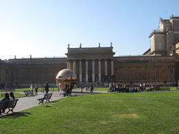 Photo of Rome Skip the Line: Vatican Museums, Sistine Chapel and St Peter's Basilica Half-Day Walking Tour Plaza outside the Vatican Museum