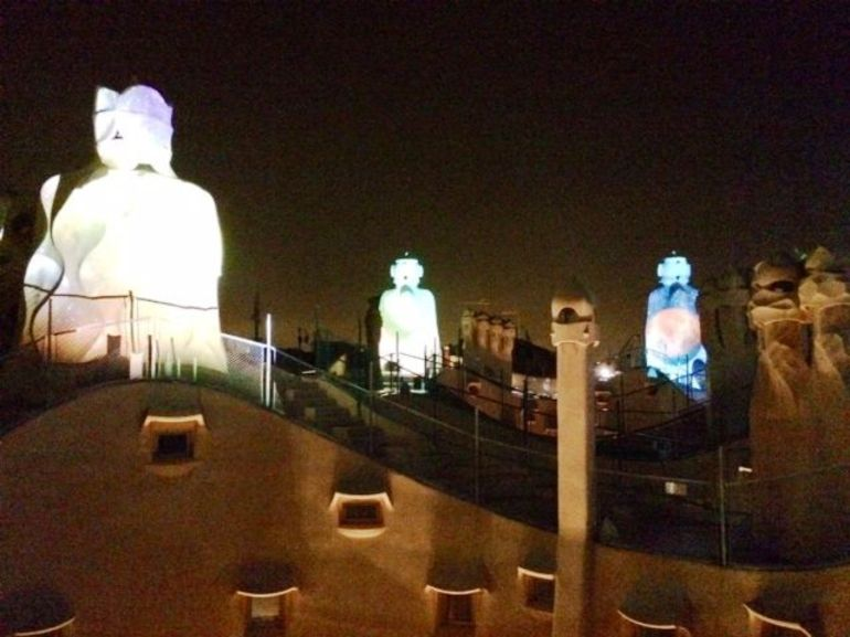 La Pedrera nightime tour