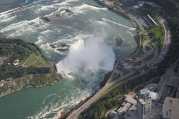 A wonder full view of the Falls from above. You can see a boat at the base of the Falls, Pipat G - September 2009
