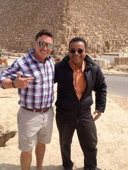 This is To go and I at the great pyramids , Kellen J - April 2015