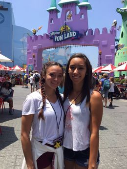 Having a blast with my cousin at Universal, Mo Burns - July 2015