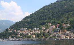 View of Lake Como from boat , Michelle S - June 2013