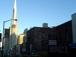 Photo of   View of Transamerica building from street in Chinatown, SF