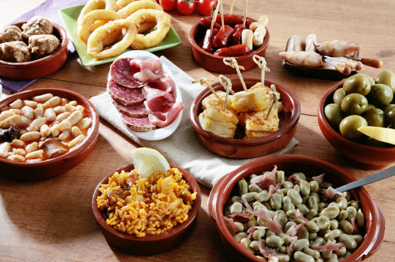 A variety of Spanish Tapas, Madrid