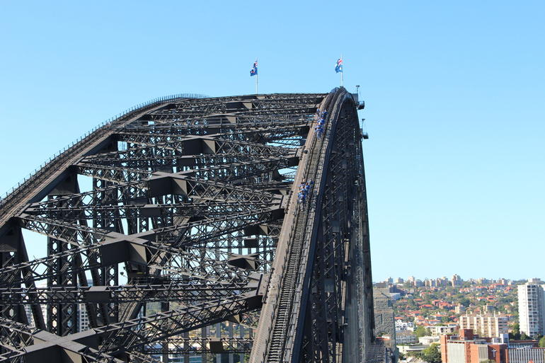 Climbing the bridge - Sydney