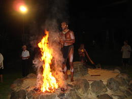 Walking around in circle while the dancers are getting the fire prepped-up, Patricia P - January 2011