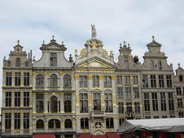 Grand Place and there was a market in the center that the buildings surround , Brenda G - October 2013