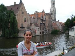 My daughter having a final picture as we head back to our bus after a wonderful time in Bruges., David F - July 2008