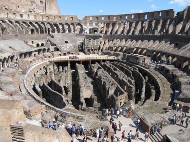 Inside the Colosseum - Rome