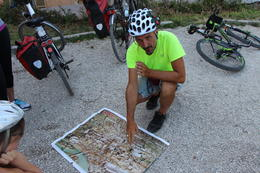 Here he is showing us today's route and a brief history lesson on how all of the ruins were uncovered by the Italian Government. , Anthony C - August 2013