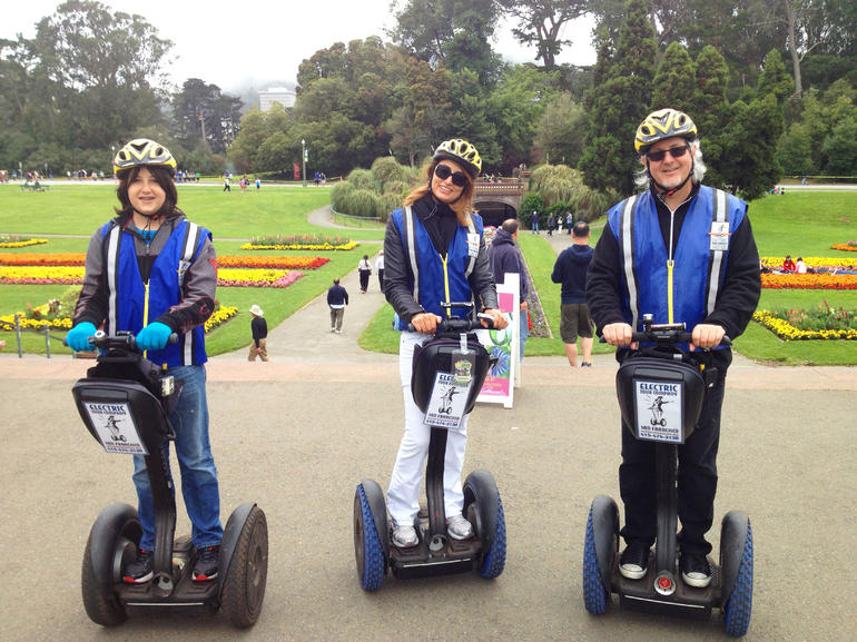 Segway Stop at the Conservatory of Flowers in Golden Gate Park - San Francisco