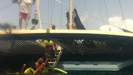 Taken from almost under the catamaran, JennyC - August 2011