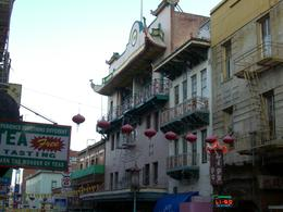 Photo of   Tea shop and other typical Chinatown businesses, San Francisco