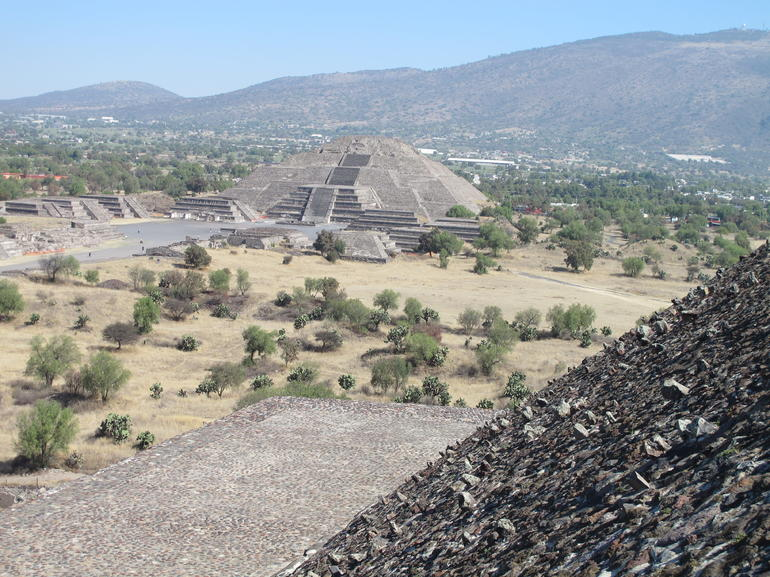 View from the top of the Pyramind of the Sun - Mexico City
