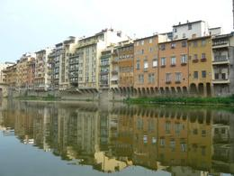 Photo of Florence Florence River Cruise on a Traditional Barchetto Houses on the River Arno