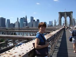 We, my wife and I, had hoped off the bus in Brooklyn and took the opportunity to walk over the bridge. Picking a fresh bus at Battery Park stop., William John H - September 2008