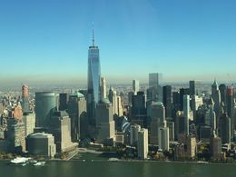 Sydmanhattan med One World Trade Center i midten set fra helikopteren , Søren C - November 2015
