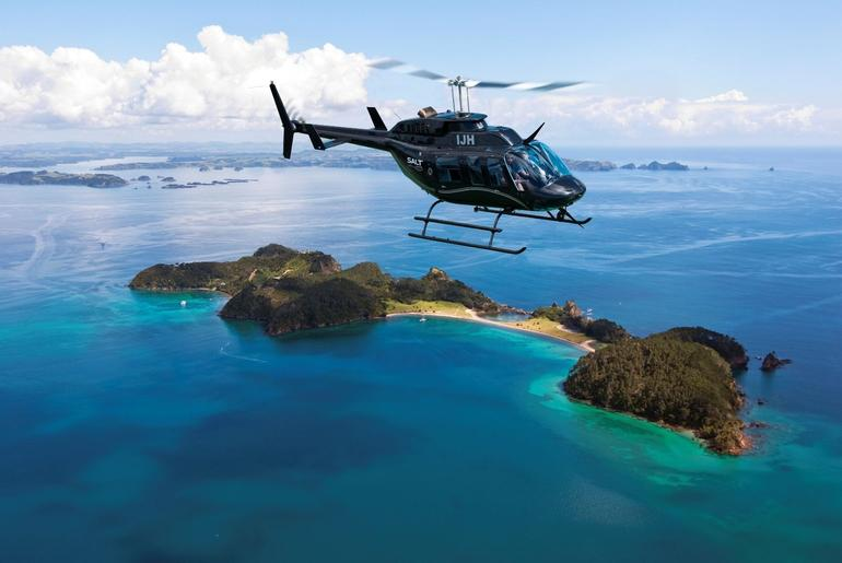 Helicopter over Bay of Islands - Bay of Islands