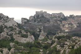 Les Baux from Far Away - March 2010