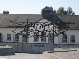 Photo of Munich Dachau Concentration Camp Memorial Small Group Tour from Munich Memorial Statue